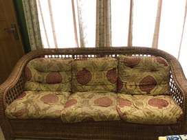 Cane sofa set 5 seater
