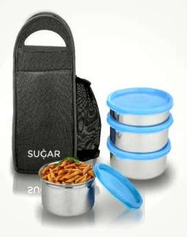 Stainless Steel Lunchbox(Set Of 4 Containers)