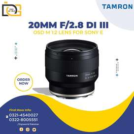 Wide angle Full frame Mirrorless Camera lens Tamron 20mm F2.8 E mount