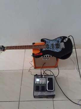 Jual Gitar,Efek,ampli full set.
