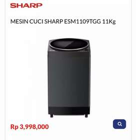 Kredit MESIN CUCI SHARP ESM1109TGG 11Kg