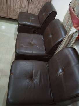 Office Furniture Set - Leather Sofa Single Seater