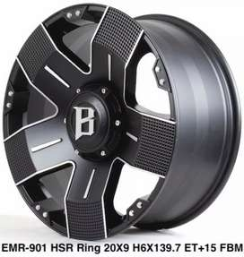 Velg HSR Model EMR901 R20*9 H6*139 Black