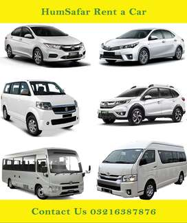 Honda City, Suzuki APV Toyota Hiace Grand Cabin, Corolla avail on Rent
