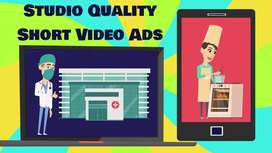 short video ad, product, commercial or sales video ad