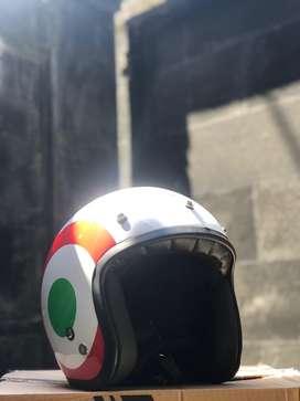 Helm vespa retro italian flag italy