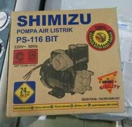 pompa air listrik shimizu garansi mesin 3 tahun sumur dangkal 125watt