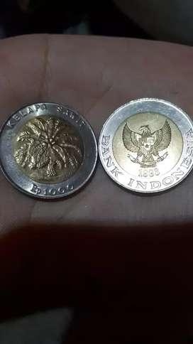 Uang logam Rp. 1000 kelapa sawit tahun 1993