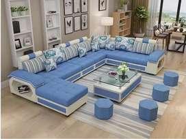 Factory wholesale fabric U shaped sectional sofa set