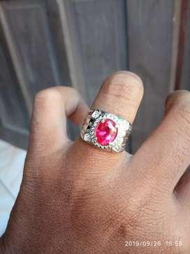 Cincin permata merah siem bangkok cutting berlian