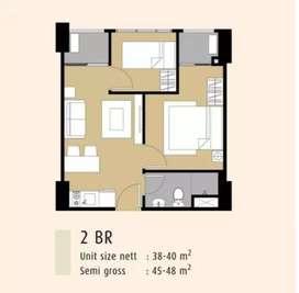 Dijual atau take over apartment mtown residence full furnish