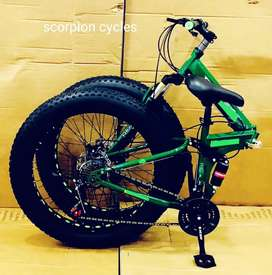 Brand new fat tyre folding bicycles