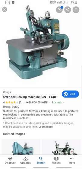 Urgently wanted an second hand overlock machine