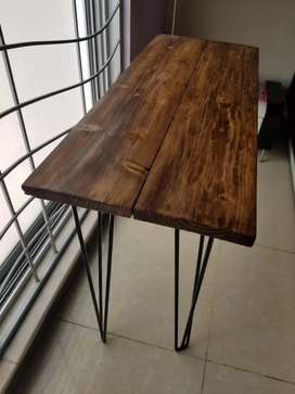 Rustic modern hair pin table