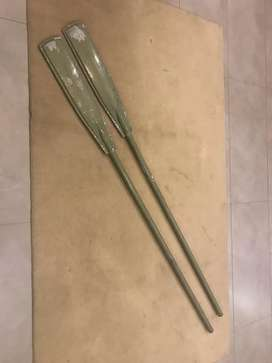 Boat rowing aluminum floating oars sea river lake