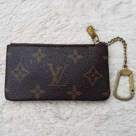 Dompet import eks LOUIS VUITTON pouch mini gantungan kunci ad no seri