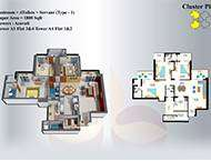 1800 SQ FT 3 BHK WITH SERVENT ROOM ONLY 60 LAKH