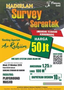 Investasi Tanah Kavling Syariah Ar Rahiim , Karawang