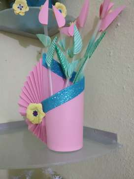 02 Gift glasses with flower  (Paper work)