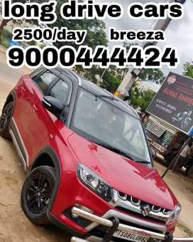 2500/day only brezza self drive cars