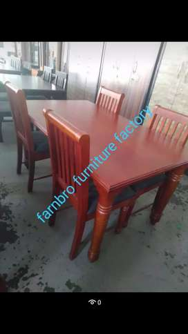 Wooden dining with 4 chairs offers