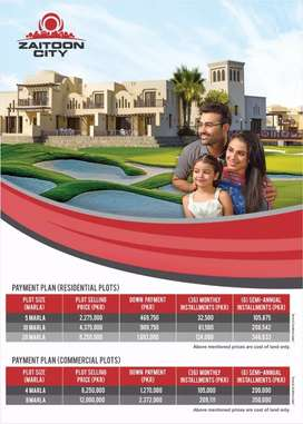 Zaitoon City LDA approved project  new booking 5 Marla plot file sale
