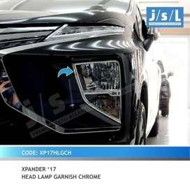garnish depan chrome XPANDER ( kikim variasi paris )