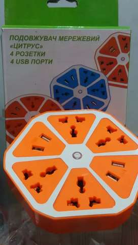 4usb charger with universal electric sockets