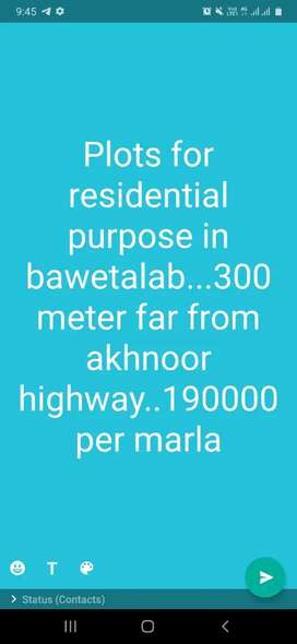 Land for shops and halls on akhnoor highway