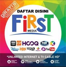 Pasang Internet Plus TV cabel First Media sejabodetabek