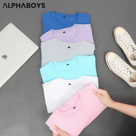 Kaos Polos Pria dan Wanita bahan cotton Combed 30 s