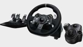 Logitech gaming wheel + gear shifter 2months old