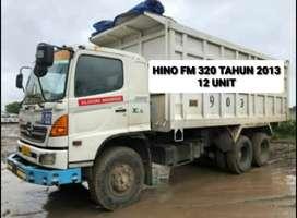 HINO FM 320 tahun 2013 ada 12 unit siap kerja