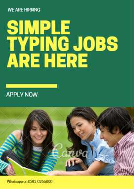 Apply to theGenuine simple typing job we are providing home based
