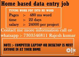 Data Entry Operator and Typist Job Vacancies for students,housewife