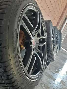 17 inch lenso rims with tyre for sale