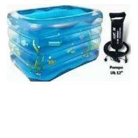 kolam renang anak 4 ring + pompa