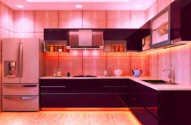 modular kitchen in best designs, free demo available