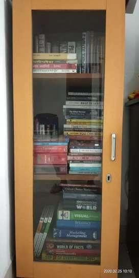 Wooden  Glass Bookself