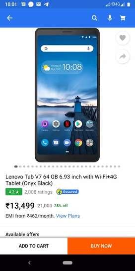 Lenovo Tap V7:4gb ram,64 GB rom,5180mAh battery