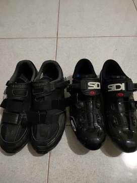 Sepatu cleat Road bike dan MTB