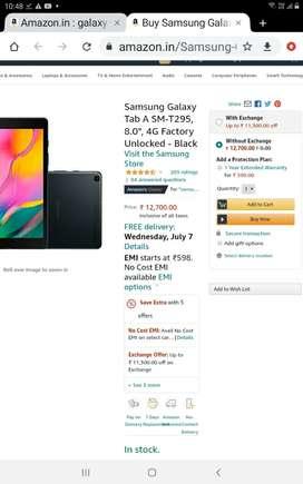 Samsung TabA 8 inch wifi + calling