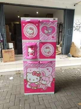 Lemari plastik naiba 9284 hello kitty susun 4 murah area jogja (est)