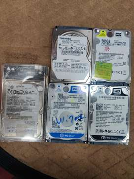 Laptop 500GB 320GB 120GB harddisks and SSD Rams
