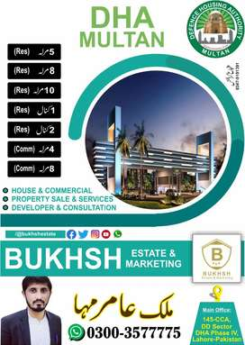 DHA Multan 5 Marla plot available in Sector T..