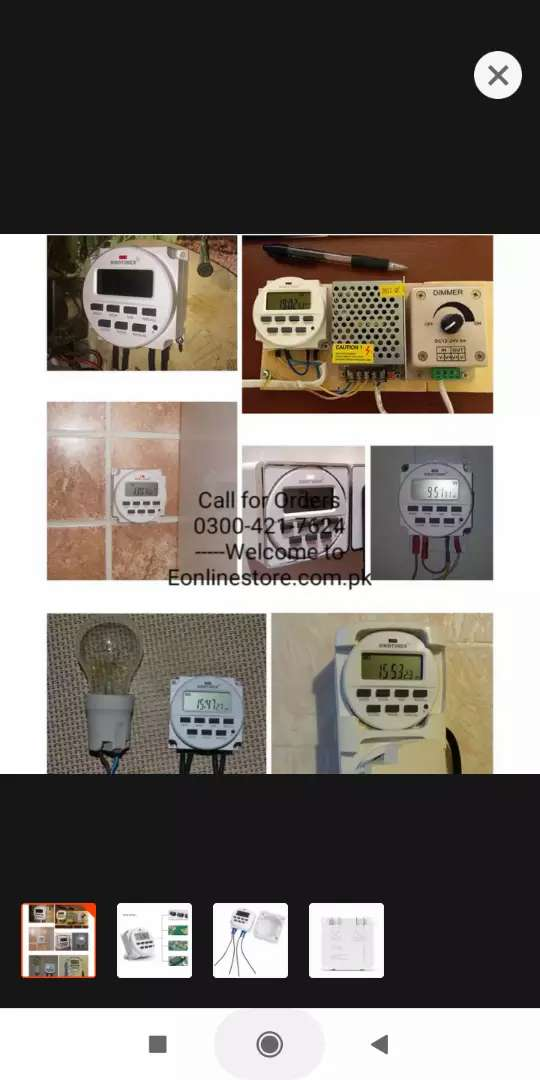 24 Hours Plug in Mechanical Grounded Programmable Timer Switch Smart C 0