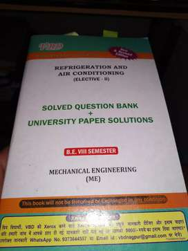8th semester mechanical engineering book.
