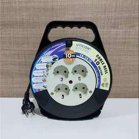 UTICON KABEL ROLL 10m CR 2810 /Kabel Sambung Cable Rell / Stop Kontak