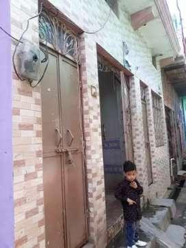 50 गज का मकान है, दो कमरे, टॉयलेट, बाथरूम, एक जीना, 5 फुट की बाउंड्री