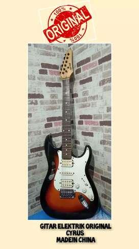 Gitar elektrik original cyrus madein china siap jreng dan garansi